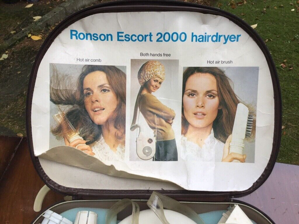 Vintage Ronson Escort 2000 Hair Dryer - Original, with papers ! | in ...