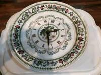 For sale Portmeirion plate clock