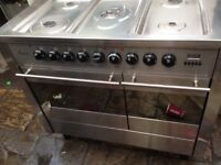 Silver Range gas cooker dual fuel.....Mint free delivery