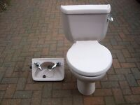 toilet and matching cloakroom washbasin