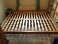 King/Double Bed Frame in Pine - Ikea product