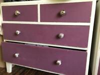 Wooden chest of drawers x2