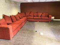 As new large 15ft by 13 corner sofa