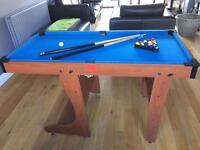 Foldable 4ft 6 pool table