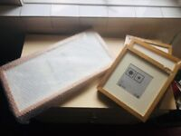 4 Ikea beech wood finish brand new pictures frames of various sizes