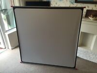 "2 simplex 50""X 50"" projector screens"