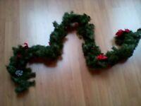 Christmas Garland and Christmas Wreath - Never Used