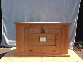Wooden corner cabinet hand made from reclaimed timber