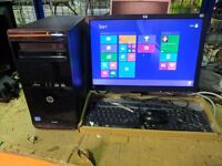 """COMPLETE HP PC SETUP i3-3420 3.40GHz 4GB RAM 1Tb HDD HPx(19"""" TFT/KEYBOARD/MOUSE)"""