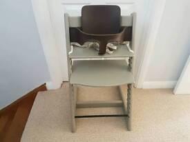 Stokke Tripp Trapp High Chair in Grey + Baby Set + Stokke Harness