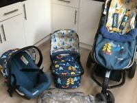 Cosatto travel system with car seat and isofix base
