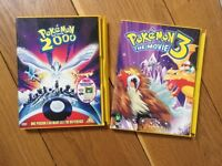 2 x Pokemon DVDs Pokemon 2000 Movie and Pokemon 3 Movie Cert PG Cert U Pikachu Ash Good