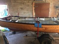 """18 Foot Clinker Boat in """"AS NEW"""" condition with outboard"""