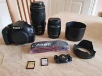 Canon 1100D camera, lenses & accessories