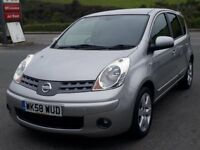 NISSAN NOTE 1.6 16V TEKNA AUTO, 2008 '58 REG, 2 OWNERS, ONLY 51'000 MILES, DEALER FSH, SUPERB AUTO