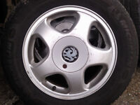VAUXHALL ALLOYS SET OF 4 = 5 STUD FIT ASTRA SAFIRA VECTRA 195/65/15 £220 ovnovno