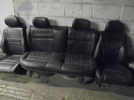 black leather interior seats full subaru impreza ideal for camper conversions caddy vw