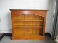 LARGE STAINED SOLID PINE BOOKCASE SHELVING UNIT FREE DELIVERY