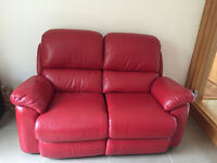 Leather 2 seater sofa - La-z-boy recliner - price drop