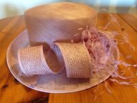 Attractive Design, Light Pink Natural Fibre Ladies Hat