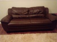 2 & 3 seater leather sofas £60