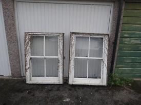Two original Victorian sash windows.