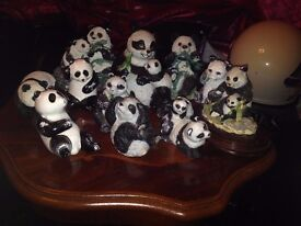 Collection of Panda ornaments OPEN TO OFFERS.
