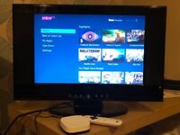 19in lcd tv and nowtv box