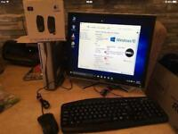 """ACER DUAL. ORE MINI PC with DELL 19"""" MONITOR, KEYBOARD, MOUSE & SPEAKERS"""