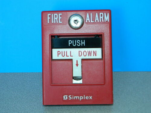 SIMPLEX 4099-9003 DOUBLE ACTION ADDRESSABLE MANUAL FIRE ALARM PULL STATION ALARM