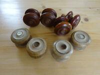 Antique/Vintage wooden drawer knobs - Old Pine, Mahogany (HOLT, BA14)