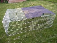 Outdoor Rabbit Run 2 opening size 180 x 120 x 60cm collection Richings Park Iver