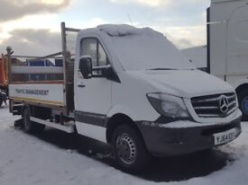 2014-64 plate mercedes 513 cdi sprinter 13ft alloy dropside with tailft great spec plus vat