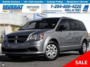 2014 Dodge Grand Caravan 4dr Wgn SXT *Accident Free, Heated Mirr