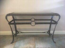 Bronze Console Table L114cm x W43cm x H74cm