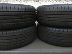 Continental tyres. Set of four 215 55 R17 EcoContact 5 nearly new tyres (less than 1000 miles)