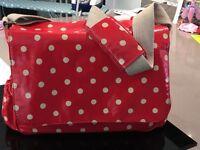 Cath Kidston Red / White Polka Dot Changing Baby Bag