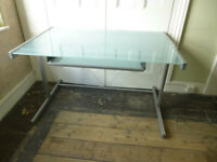 Very stylish Glass Top Computer Desk (Crate and Barrel USA)