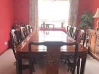 Rosewood dinning room suite,