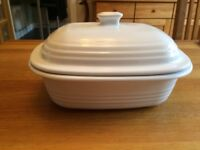 Pampered Chef Deep Covered Stoneware Baker with box - Never been used.