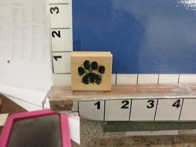 dog cat paw print animal love small NEW rubber stamp - Paw Print Stamp