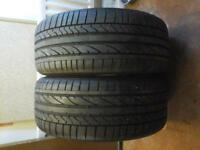 A PAIR OF BRIDGESTONE TYRE 225 / 40 R18 7M LEFT ON THEM £40 NO TEXTS PLEASE