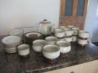 Denby tea set with Teapot, 14 cups & Saucers etc