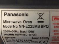 Panasonic microwave oven, 5 years old, in good order