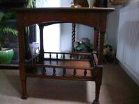 Art Nouveau Oak Occasional Table