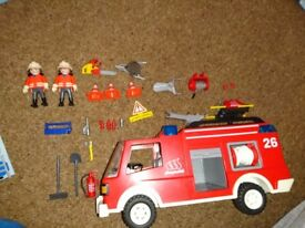 Playmobil Fire Engine with box
