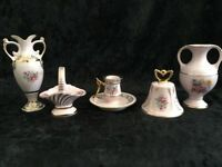 5 Pieces of Rose Pink Czech Republic Porcelain