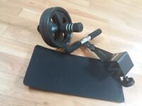 Gold's Gym door bar and fit wheel with knee mat