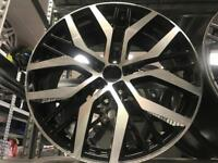 "4 19"" alloy wheels alloys rims tyre tyres vw Volkswagen seat Skoda audi 112pcd"