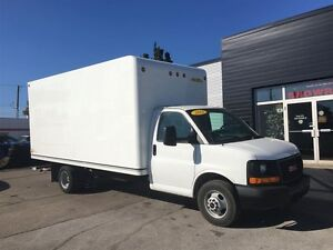 2015 GMC Savana 3500 16FT CUBE fin or lease from 4.99%